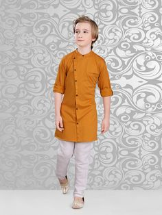 Shop Simple festive wear brown kurta suit online from G3fashion India. Brand - G3, Product code - G3-BKS0336, Price - 2699, Color - Brown, Fabric - Cotton,