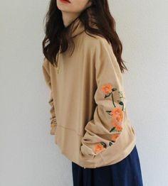 Floral Embroidered Hoodie Sweatshirt