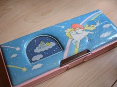 Straight out of Septembergirl's (me) vintage Hello Kitty Little Twin Stars pencil case. Double-sided too! I loved my pencil case! 1980s Childhood, My Childhood Memories, Best Memories, Little Twin Stars, Retro Toys, Vintage Toys, 1980s Toys, Toy History, School Memories