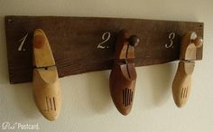Shoe Form Coat Rack- Not sure if it will go with my ultimate decor, but cool enough to keep an eye out for.