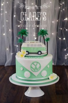 A Kombi inspired cake complete with a handmade... - Clare's Cake Design