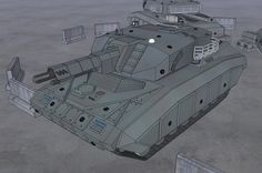 """The single seat M41 """"Panther"""" scout walker is a fast moving agile unit that operates in advance of heavier units as a scout and light attack mech. Armed with a 110 mm light railgun, co axial tachyo..."""