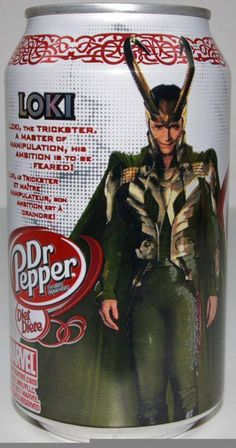 I NEED THIS CAN! and its funny how Loki is on my favorite soda