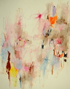"Mary Ann Wakeley; Mixed Media, 2013, Painting ""Les Vents de Printemps"""