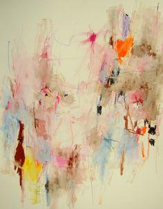 "Mary Ann Wakeley; Mixed Media, 2013, Painting ""Les Vents de Printemps"""