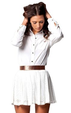 Devoted skirt in white