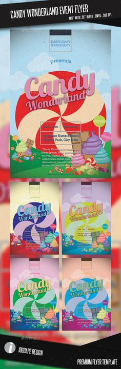 Candy Wonderland Event Flyer