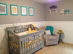 Baby boy nursery- Love the colors for girl or boy
