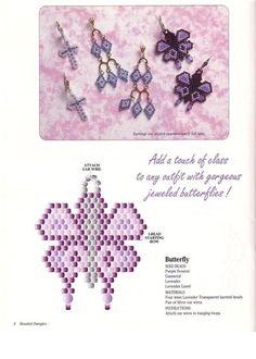 Ai gente, achei uns brincos borboletas fofos demais. E para quem gosta de bordado, ai abaixo está uma flor que é muito fácil de fazer. Esper...