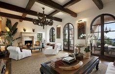 Mediterranean Style Homes California Coast | Mega Mediterranean Villa in Montecito, CA | Interior Designing Blog