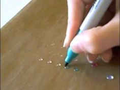 "Make Your Own Gems for Cards & Craft Projects...same idea as the hot glue technique but this uses a non hot glue called ""Glossy Accents"" that dries like glass and then uses sharpie markers to color in."