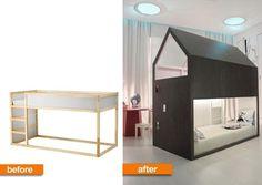 DIY Bunk Bed Playhouse