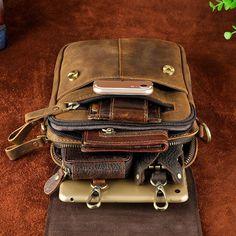 Leather Belt Pouch Mens Small Cases Waist Bag Hip Pack Belt Bag Fanny Pack Bumbag for Men Mens Waist Bag, Leather Belt Pouch, Leather Workshop, Leather Carving, Leather Bags Handmade, Leather Projects, Custom Bags, Small Bags, Fanny Pack