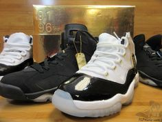 dcb6a0461b97c7 Men s Athletic Footwear   Jordan XI VI 11 6 Gold Eyelet DMP Pack  tcpkickz   jordan  rareair