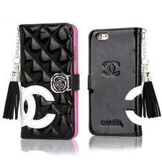 2015 New CHANEL IPHONE 6/6 PLUS/IPHONE 5/5S EMBOSSED PATENT LEATHER WALLET CASE WITH MIRROR -