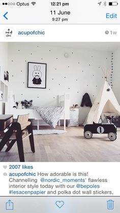 Teepee and spotted wall