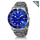 W61 Trident-Pro Automatic - Blue Bezel on a stainless steel bracelet - Pre Order Mid September