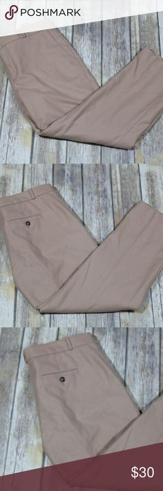 """Banana Republic Women's Avery Nova Fields Pants Gorgeous Banana Republic Women's Avery Nova Fields Crop/Ankle Dress Pants.  Size 12.  Camel color.  Lined.  66% wool, 33% nylon, 1% spandex.  Dry clean.  A great career piece.  In good, preowned condition with no flaws noted.  From Fall 2016.  No trades, offers welcome.  Measures 19"""" at back waist, 10"""" rise, 27"""" inseam, 8"""" leg opening.  From online:  Avery Fit: Mid-rise. Straight through the hip and thigh. Slight taper though the leg. Slim leg…"""