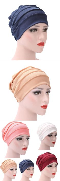52cc172a9b1 New fashion indian muslim caps women cotton turban hats indian caps solid  color keep warm caps