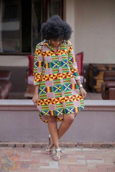 WOW african fashion ankara are really amazing Picture# 9325 African Shirt Dress, African Print Shirt, African Shirts, African Dresses For Women, African Print Dresses, African Attire, African Fashion Designers, African Fashion Ankara, Latest African Fashion Dresses