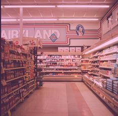 Vintage Pink supermarket shopping