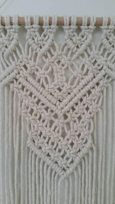 Designed in my coastal studio using 100% natural cotton macrame Original and unique design, this is the latest to my collection So stunning once on the wall 33cm wide dowel x 50cm height to longest part of the macrame from top of dowel As these are made to order they may differ ever
