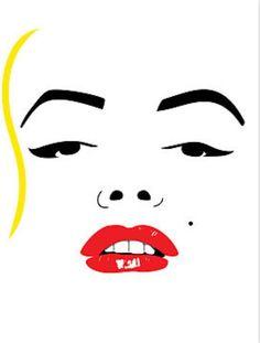 Marilyn Monroe Silhouette, Art Print.