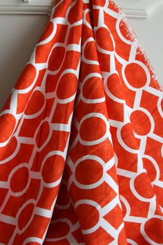 Sydney in Tangelo Slub Home Decor Weight Fabric by SewFineFabric, $3.40