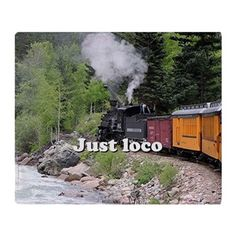Just loco: Steam train Colorado Throw Blanket on CafePress.com