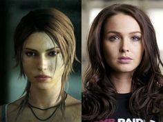 Camilla Luddington plays Game Version of Lara Croft