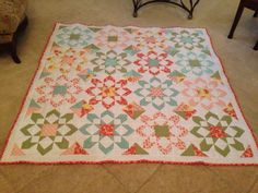 My fireworks quilt finished