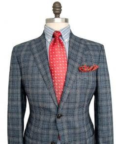Image of Luciano Barbera Blue Glen Plaid Sportcoat