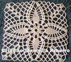 crochelinhasagulhas: White dress with pineapple Crochet Skirt Pattern, Crochet Squares, Crochet Motif, Crochet Stitches, Crochet Patterns, Bobble Crochet, Love Crochet, Crochet Yarn, Crochet Wedding Dresses