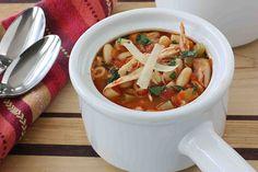 Mediterranean Chicken, Bean & Pasta Soup LS by CookinCanuck, via Flickr