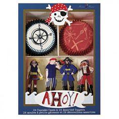 Maiglöckchen-Shop - Cupcake Set Ahoy Piraten von Meri Meri Cupcake Set Ahoy Piraten