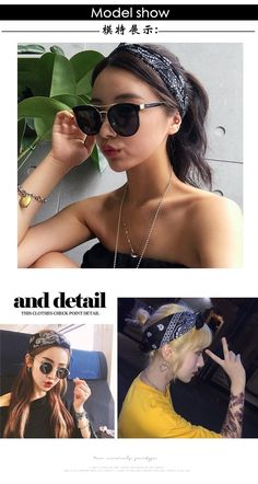 Generic Korean_Air_ retro _small_square_ Scarf shawl silk Scarf shawl _ns_ Scarf shawl _wild_men women_ Scarf shawl head hair Headdressband_friezes -- You can find out more details at the link of the image. #hairdesign