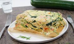 Courgettebrood met vis (zalm), eiren en zuivelspread