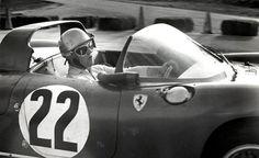Mike Parkes in his winning Ferrari 275 P at Sebring 1964