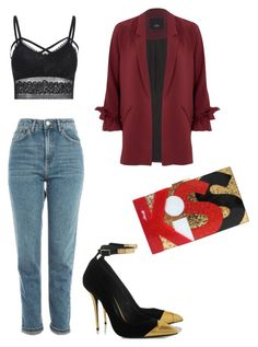 """Senza titolo #71"" by rockyourpetiteness on Polyvore featuring moda, River Island e Topshop"