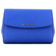 Geanta plic Michael Kors FB2B056557 ELECTRIC BLU albastra de dama Electric Blue, Michael Kors