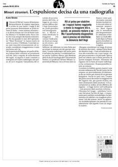 Minori stranieri: l'espulsione decisa da una radiografia