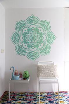 Yoga Mandala stencil template DIY mandala yoga studio
