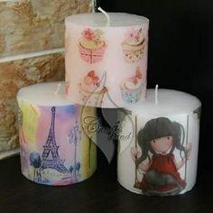 Paris, gorjuss, cupcakes candles