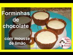Solange Bolos e doces: Como fazer forminhas de chocolate com mousse de limão