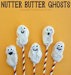 Easy Nutter Butter Ghosts! My kids LOVED these.: Easy Nutter Butter Ghosts! My kids LOVED these.