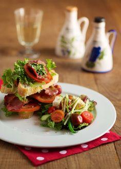 BLT - #Burgundy way! Crispy #bacon, fresh #tomato and lovely #lettuce on fresh ciabata!