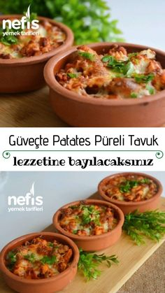 Güveçte Patates Püreli Tavuk – Nefis Yemek Tarifleri – – Tavuk tarifleri – Las recetas más prácticas y fáciles Baked Chicken Recipes, Pasta Recipes, Easy Dinner Recipes, Easy Meals, Turkish Recipes, Ethnic Recipes, How To Make Potatoes, Dinner For 2, Iftar