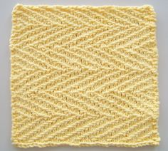 Laws Of Knitting designs a FREE kitchen dishcloth / washcloth pattern every first Tuesday of the month. Herringbone Linen is the featured design for April 2016.