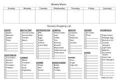 Printable Weekly Meal Planner & Grocery List