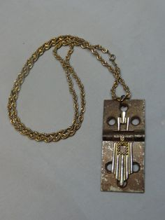 Vintage Hinge Hardware Necklace  lovingly repurposed by OffTheCuffBracelet, $25.00